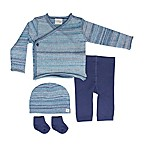 Cuddl Duds® Size 3M 5-Piece Take Me Home Kimono Cardigan, Pant, Hat, and Sock Set in Blue