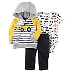 carter's® Size 3M 3-Piece Construction Bodysuit, Pant and Jacket Set in Yellow