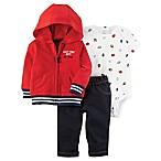 carter's® Newborn 3-Piece Little Jacket, Bodysuit, and Pant Set in Red