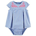 carter's® Newborn Embroidered Bodysuit Dress in Blue
