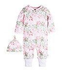 Burt's Bees Baby® Size 3M Long Sleeve Succulent Flowers Ruffle Coverall and Hat Set