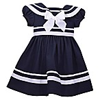 Bonnie Baby Size 18M Nautical Collar Dress in Navy