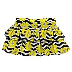 Start-up Kids® Size 18M Chevron Daisy Tutu Skort in Black/Yellow