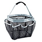 DII Oceanique Mesh Collapsible Shower Caddy in Grey