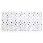 "Aqua Touch 30"" x 15"" Marakesh Bath Mat in White"