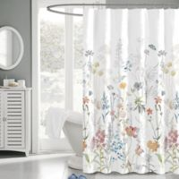 Penrhyn 72-Inch x 72-Inch Floral Fabric Shower Curtain
