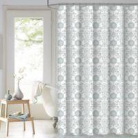 Malaka Medallion 72-Inch x 72-Inch Shower Curtain in Spa Blue