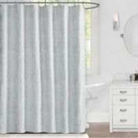 Callie 72-Inch x 72-Inch Shower Curtain in White/Silver