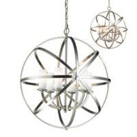 Filament Design Ara 6-Light Pendant in Brushed Nickel