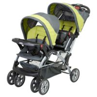 Baby Trend Sit N' Stand Double Stroller in Carbon Green