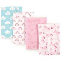 Luvable Friends® 4-Pack Burp Cloth Set in Unicorn