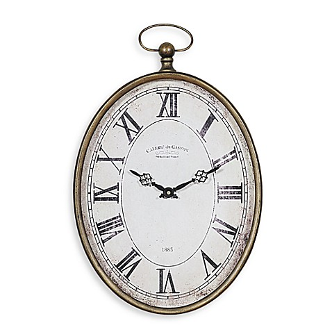 Creative Co-Op Pocket Watch Vertical Wall Clock