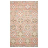 "Nourison Madera 7'10"" x 10"" Woven Area Rug in Orange"