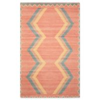 "Nourison Madera 7'10"" x 10' Woven Area Rug in Tangerine"