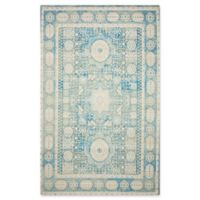 "Nourison Madera 6'6"" x 9'6"" Woven Area Rug in Teal"