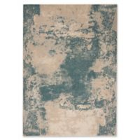 Nourison Maxell Abstract 3'10 x 5'10 Area Rug in Ivory/Teal