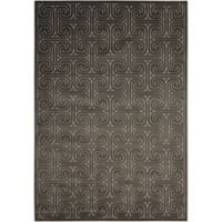 Nourison Kelly Ripa 3'6 x 5'6 Loomed Area Rug in Dark Grey