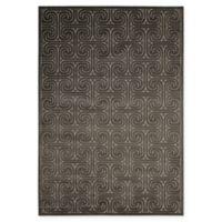 Nourison Kelly Ripa 5'3 x 7'5 Loomed Area Rug in Dark Grey