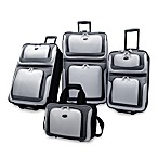 U.S. Traveler New Yorker 4-Piece Wheeled Luggage Set in Grey