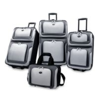 NY 4-Piece Luggage Set by U.S. Traveler in Grey
