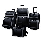 U.S. Traveler New Yorker 4-Piece Wheeled Luggage Set in Black