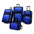 U.S. Traveler New Yorker 4-Piece Wheeled Luggage Set in Blue
