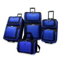 NY 4-Piece Luggage Set by U.S. Traveler in Blue