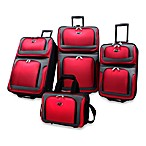 U.S. Traveler New Yorker 4-Piece Wheeled Luggage Set in Red
