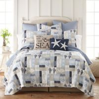 Levtex Home Cerralvo Twin Quilt in Blue/Taupe