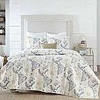 Coastal Living Coastal Map King Quilt Set in Blue/White