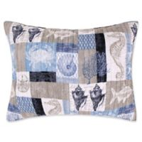 Levtex Home Cerralvo King Pillow Sham in Blue/Taupe