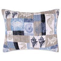 Levtex Home Cerralvo Standard Pillow Sham in Blue/Taupe