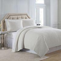 Charisma Regent Velvet King Coverlet in Winter White