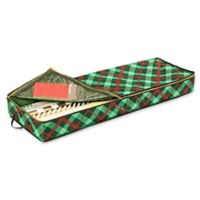 Honey-Can-Do® 30-Inch Plaid Wrapping Paper Organizer in Red/Green