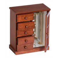 Mele & Co. Cheshire Wooden Jewelry Box in Walnut