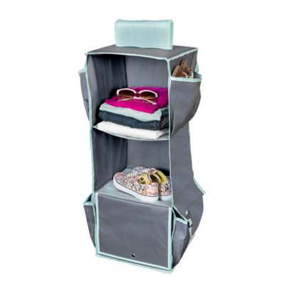 bedroom organizer. Honey Can Do  3 Shelf Hanging Organizer in Mint Buy Bedroom Organizers from Bed Bath Beyond