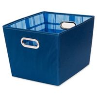 Honey-Can-Do® Medium Storage Bins in Blue (Set of 2)