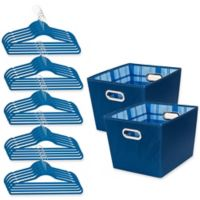 Honey-Can-Do® 3-Piece Totes and Hangers Kit in Blue