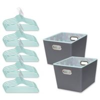 Honey-Can-Do® 3-Piece Totes and Hangers Kit in Mint