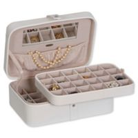 Mele & Co. Lila Medium Jewelry Box in Ivory