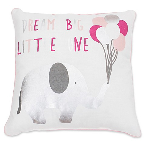 Elephant Throw Pillow Bed Bath And Beyond : Thro Eric Elephant Square Decorative Pillows - Bed Bath & Beyond