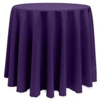 Basic 96-Inch Round Tablecloth in Purple