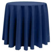 Basic 96-Inch Round Tablecloth in Navy