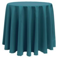 Basic 96-Inch Round Tablecloth in Teal