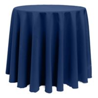 Basic 114-Inch Round Tablecloth in Navy