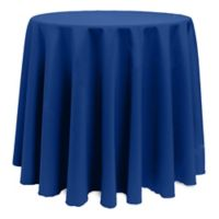 Basic 114-Inch Round Tablecloth in Royal