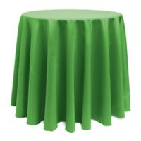 Basic 114-Inch Round Tablecloth in Kelly