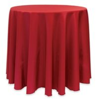 Basic 114-Inch Round Tablecloth in Holiday Red