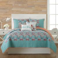 Vera Bradley® Go Fish King Quilt in Teal