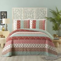 Jessica Simpson Caledonia Full/Queen Quilt in Red